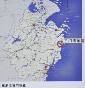 三门湾大桥及接线工程规划图