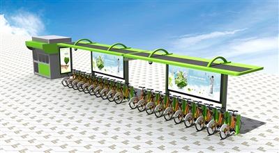 公共自行车雨棚