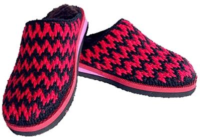 纯手工制作毛线棉鞋,拖鞋