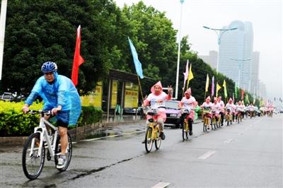 自行车绕城                    城市交通;通过展板,宣传资料等提高